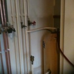 Old conventional back boiler to combi