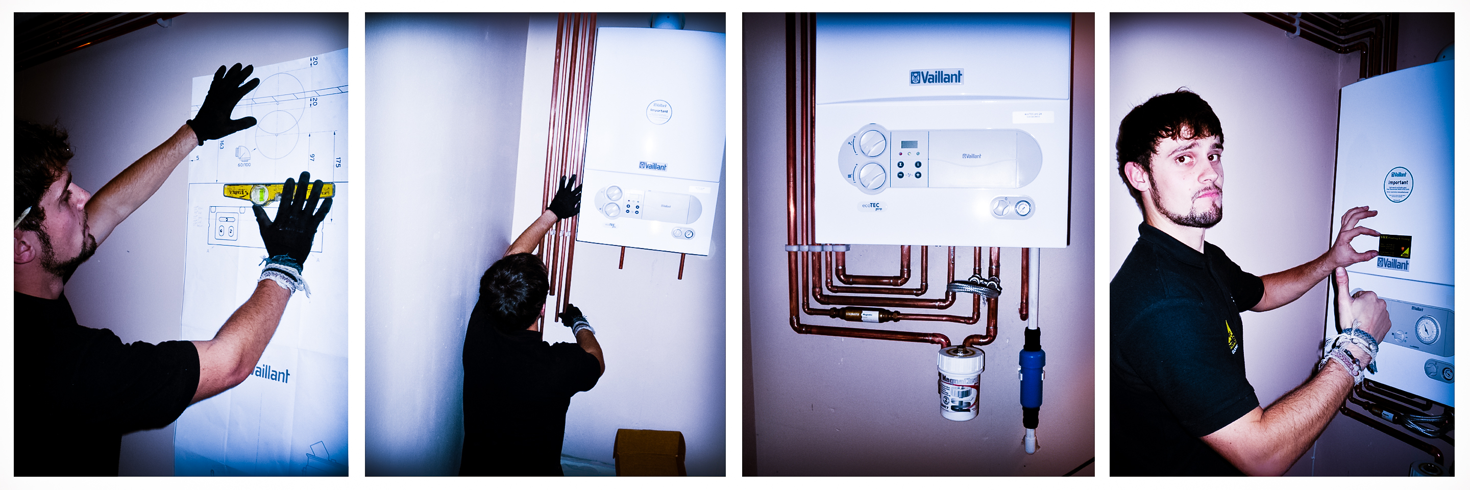 The installation of a Vaillant Combi Boiler in the Bristol area